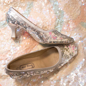Silver Sequin Shoes - Great Condition